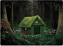 Tappeto da bagno50x80cm, Fantasy, piccola foresta
