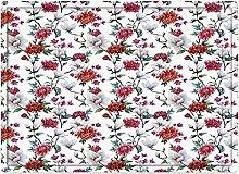 Tappeto da bagno50x80cm, Fiore, Magnolia Romantica