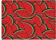 Tappeto da bagno50x80cm, Frutta, Fette Di Anguria