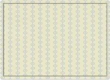 Tappeto da bagno50x80cm, Geometrico, Cerchi