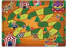 Tappeto da bagno50x80cm, Gioco da tavolo, Circo