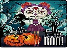 Tappeto da bagno50x80cm, Halloween, Cartoon Girl