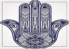 Tappeto da bagno50x80cm, Hamsa, elementi di design