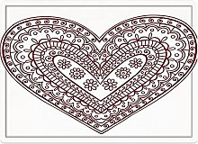 Tappeto da bagno50x80cm, Hennè, Paisley Doodle in