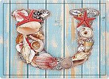 Tappeto da bagno50x80cm, Lettera U, design