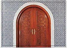 Tappeto da bagno50x80cm, Marocchino, antica porta