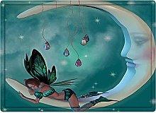 Tappeto da bagno50x80cm, Moon, Beautiful Elf with
