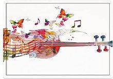 Tappeto da bagno50x80cm, Music Decor, Violoncello