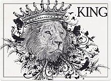 Tappeto da bagno50x80cm, Re, Regno della Giungla
