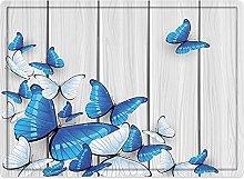 Tappeto da bagno50x80cm, Set di farfalle, farfalle