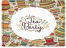 Tappeto da bagno50x80cm, Tea Party, Cartoon
