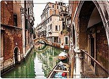 Tappeto da bagno50x80cm, Venezia, famosi canali