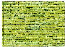 Tappeto da bagno50x80cm, Verde lime, parete