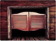 Tappeto da bagno50x80cm, Western, vecchia porta di