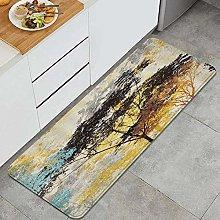 Tappeto da cucina, albero colorato ombra stampa