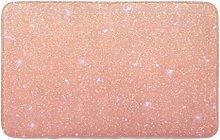 Tappeto da cucina anteriore con paillettes rosa