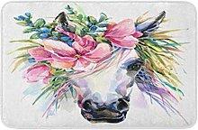 Tappeto da cucina anteriore con unicorno e cavallo