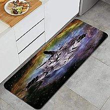 Tappeto da cucina, carino gatto volante,