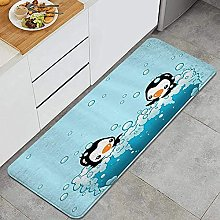 Tappeto da cucina, carino pinguini, impermeabile