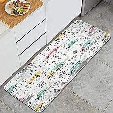 Tappeto da cucina, Cartoon Transportation Bambini,