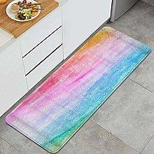 Tappeto da cucina, colorato arcobaleno acquerello