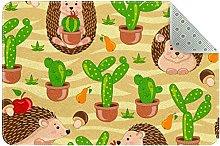 Tappeto da cucina con cactus verde, per ingresso,