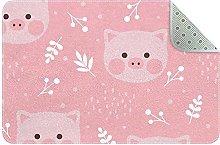 Tappeto da cucina con maiale rosa, per ingresso e