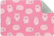 Tappeto da cucina con maiali rosa, per ingresso e