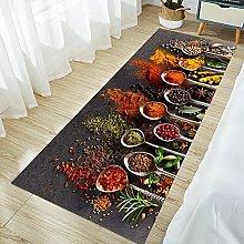 Tappeto da cucina con motivo spezie, per camera da