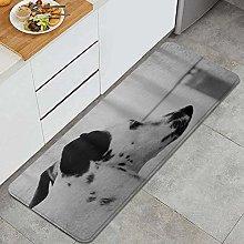 Tappeto da cucina, Dalmatian Dog Brindle Orecchie,