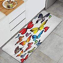Tappeto da cucina, differenti farfalle