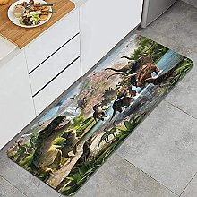 Tappeto da cucina, Dinosaur Park Sfondo,