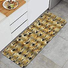 Tappeto da cucina, Doge divertente, impermeabile