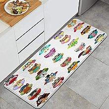 Tappeto da cucina, gufi carini, impermeabile non