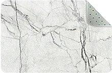 Tappeto da cucina in marmo bianco, tappetino per