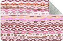 Tappeto da cucina in stile bohemien, colore: rosa