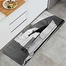 Tappeto da cucina, ombretto gatto nero,