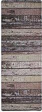 Tappeto da cucina stampato in legno, 45 x 120 cm,