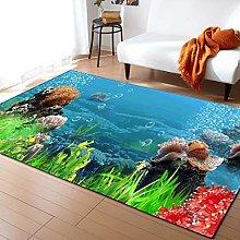 Tappeto da Soggiorno Corallo e pesce 120X170 CM