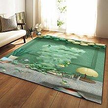 Tappeto da Soggiorno Fumo verde 120X170 CM Tappeto