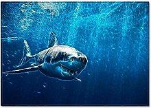 Tappeto da Soggiorno Squalo blu dell'oceano
