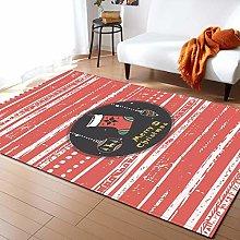Tappeto da Soggiorno Strisce rosse e bianche 60X90