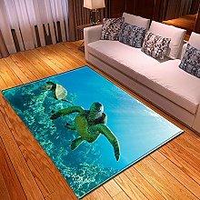 Tappeto da Soggiorno Tartaruga blu dell'oceano