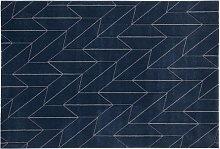 Tappeto design blu 160 x 230 cm BRAQ