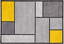 Tappeto di design giallo e grigio 160 x 230 cm -