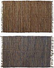 Tappeto DKD Home Decor Iuta Cotone Indiano (2 pcs)