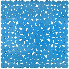 Tappeto Doccia Sassolini Cm.54X54 Azzurro   Pz
