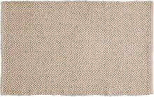 Tappeto Ecru in cotone 100% 50x80 cm Arredo Bagno