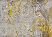 Tappeto greggio e giallo 160 x 230 cm CAPS