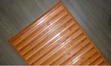 Tappeto in bamboo: 50 x 290 cm / Nero